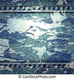 青, 10, illustration., eps, 点, ベクトル, 手ざわり, 背景, ジーン
