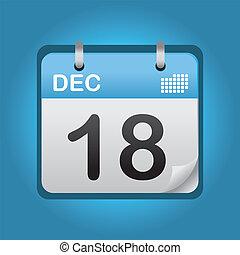 青, 12月, カレンダー
