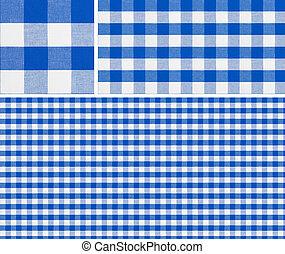 青, 1500x1500, よい, ピクニック, パターン, 作成, seamless, 布, checkered, ...