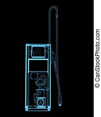 青, (3d, transparent), x 線, 駅, gass