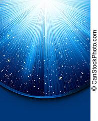 青, 8, 明るい, eps, rays.