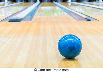 青, alley., ボール, ボウリング