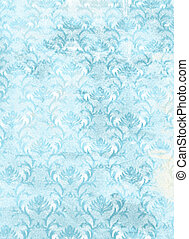 青, background:, sky-like, 抽象的, パターン, textured, 花, 白, 背景