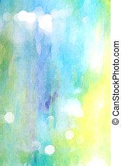 青, background:, sky-like, 抽象的, 白, パターン, 黄色, 緑, textured, 背景