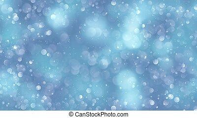 青, bokeh, 背景, 作成される, によって, ネオン, lights.