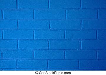 青, brickwall