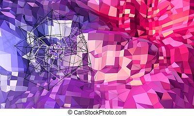 青, colors., 勾配, 抽象的, 現代, 表面, v12, poly, 格子, 空気。, 背景, 3d, 赤, ...