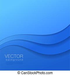 青, copyspace., 抽象的, ベクトル, 背景