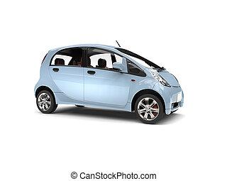 青, cornflower, 電気 車, -, 小さい, サイド光景