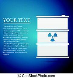 青, disaster., 屑, 汚染, ごみ, 危険, keg., 放出, 平ら, バックグラウンド。, 生態学的, ベクトル, イラスト, 有毒, 放射性, 樽, 無駄, 環境, アイコン