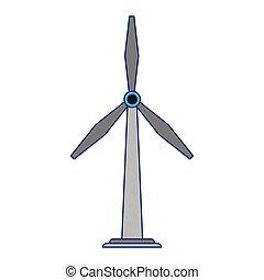 青, eolic, エネルギー, ライン, タービン, 風