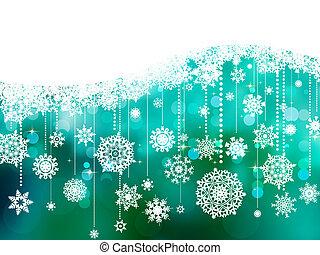 青, eps, space., 背景, 8, コピー, クリスマス