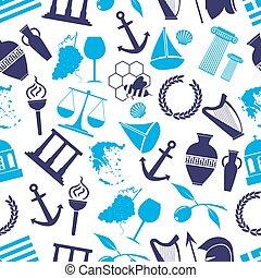 青, eps10, 国, seamless, シンボル, 主題, ギリシャ, パターン