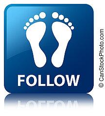 青,  (footprint, ボタン, 広場, 続きなさい,  icon)