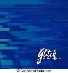 青, glitch, 抽象的なデザイン, 背景