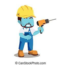 青, handyman, 保有物, ドリル