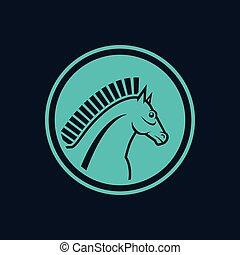 青, horse-symbol