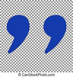 青, illustration., 引用, 印, バックグラウンド。, 透明, アイコン