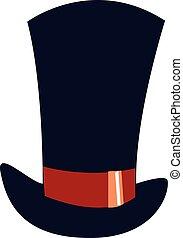 青, illustration., 色, 大きい, ベクトル, 帽子, ∥あるいは∥