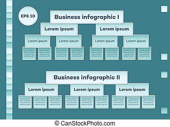 青, infographic, チャート, ビジネス