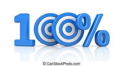 青, metaphors., 打撃, 形態, percent., 正確, 数, イラスト, ストライプ, 矢, 100, ターゲット, 赤, 3d