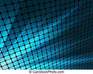 青, mosaic., 光線, ライト, eps, 8, 3d
