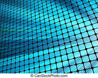青, mosaic., 光線, 10, ライト, eps, 3d