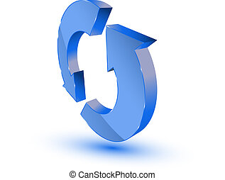 青, refresh-recycling, シンボル