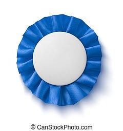 青, ribbon., 生地, 賞, 現実的, ブランク