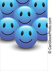 青, smiley, ベクトル