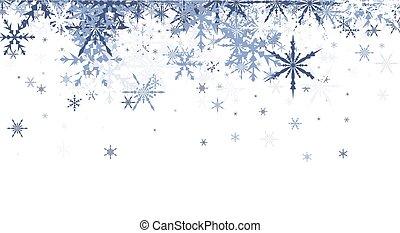 青, snowflakes., 冬, 背景