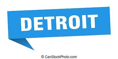 青, sticker., ポインター, デトロイト, 印, 道標