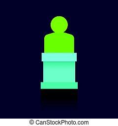 青, symbols., success., business., バックグラウンド。, チームワーク, meeting., leader., 円, 人, logo., アイコン