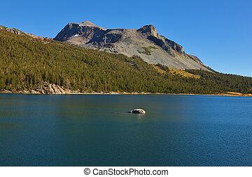 青, tioga 湖, 海岸, 暗い, 大丈夫です