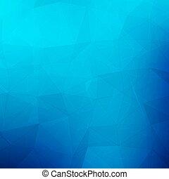 青, triangles., 抽象的, 幾何学的, 背景