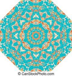 青, triba, 形態, 装飾, 要素, デザイン, 万華鏡