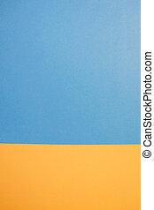 青, yellow., 明るい, ペーパー, 背景, design.
