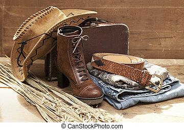 静かな 生命, ∥で∥, カウボーイ帽子, そして, ブーツ