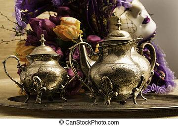 静かな 生命, 古い, teaware