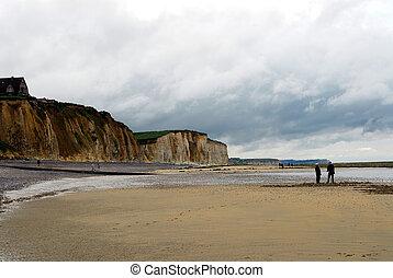 非常に, 光景, 浜, ノルマンディー, すてきである
