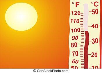 非常に, 暑い