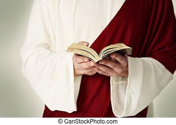 非常に, 聖書, 古い, 読書, 神聖