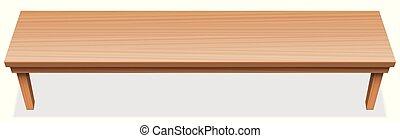 非常に, 表面, 木製である, 長い間, テーブル, tabletop