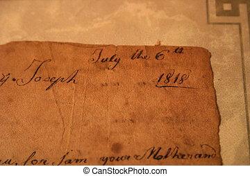 非常, 老的信件