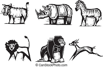 非洲 動物, #2, 組