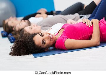 非裔美國人 婦女, 在, 有氧運動, 類別