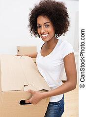 非裔美國人 婦女, 移動房子