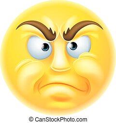 非難, ∥あるいは∥, 怒る, emoticon, emoji
