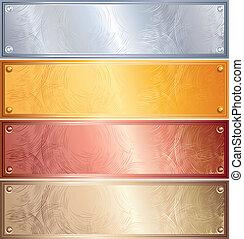 面板, 金屬