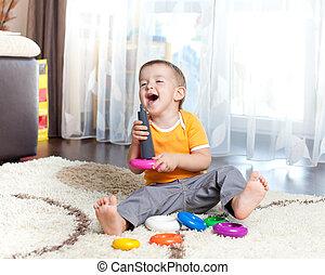面白い, おもちゃ, 色, 屋内, 子が遊ぶ
